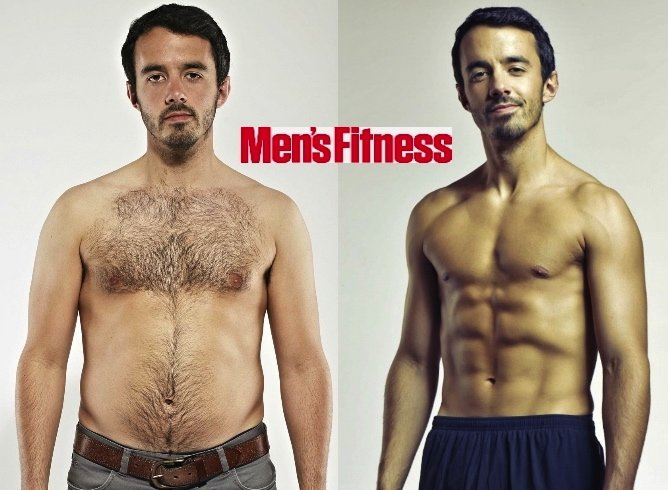 Ben Ince of Men's Fitness – 18.5% body fat to 7.1% in 8 ...