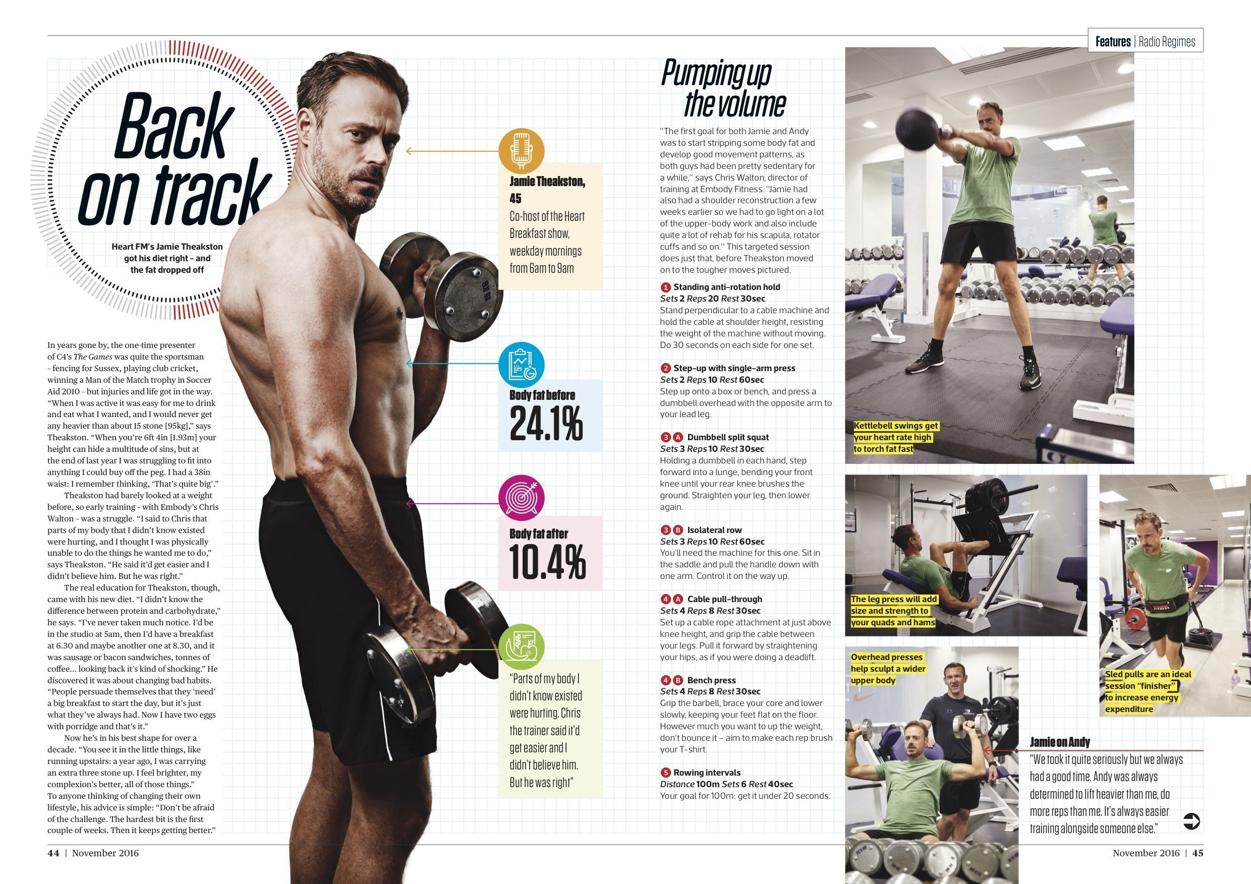 Personal Training Trainer London | Men's Fitness feature Jamie and Andy's Transformation Challenge October 6th, 2016